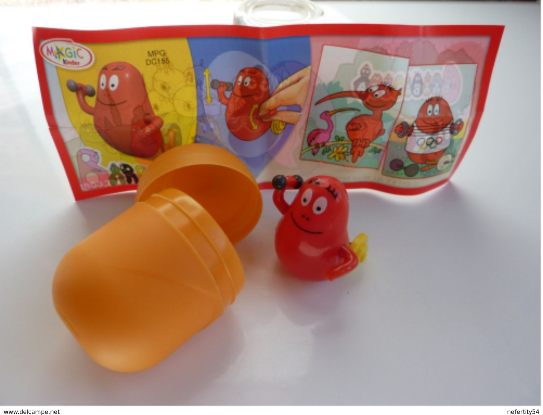 "Figurine Kinder 2011 ""Les Barbapapa"" Barbidur DC 155 - Monoblocs"