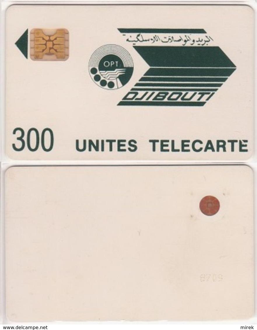 64/ Djibouti; P6. Logo Greenish Black, 300 Ut., SC4 GW Afnor, CN 8709 - Dschibuti