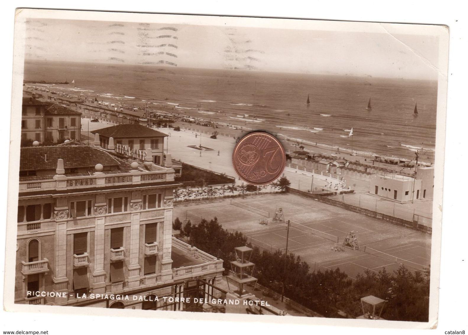 S6290 RIMINI RICCIONE LA SPIAGGIA DALLA TORRE DEL GRAND HOTEL - Rimini