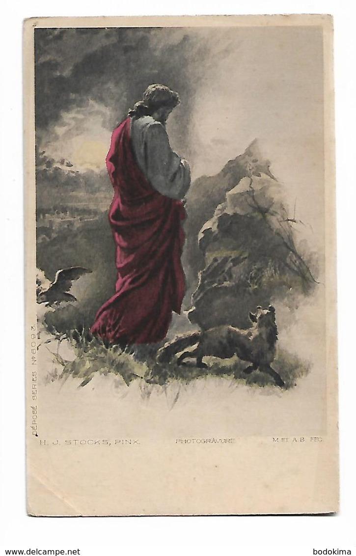 H. J.  Stocks    -   Jésu  , Renard  Et  Oiseau   (  Photogravure ) - Peintures & Tableaux