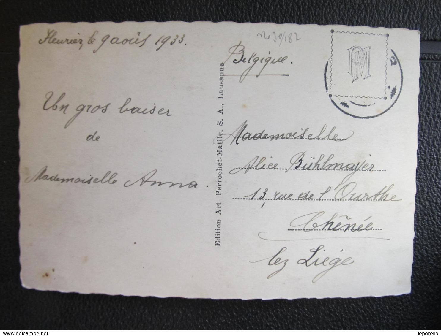 AK FLEURIER NE 1933 ///  D*30445 - NE Neuenburg