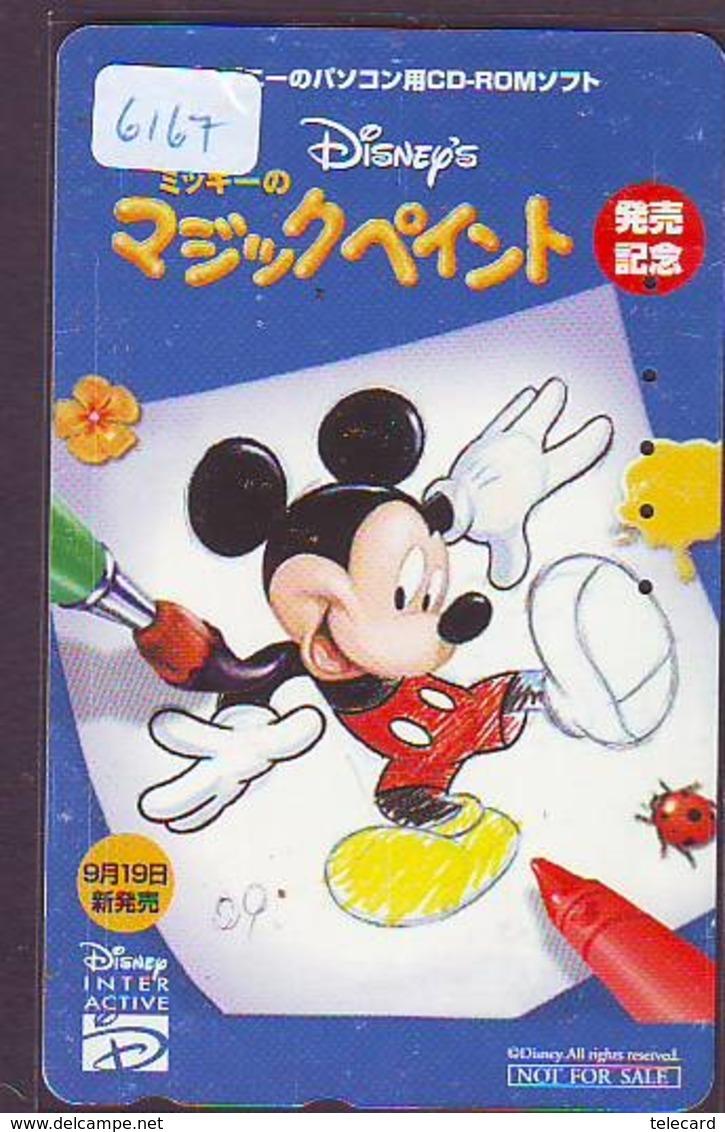 Télécarte Japon / 110-016 - DISNEY - MICKEY CD ROM INTER ACTIVE ((6167) Japan Phonecard Telefonkarte - Disney