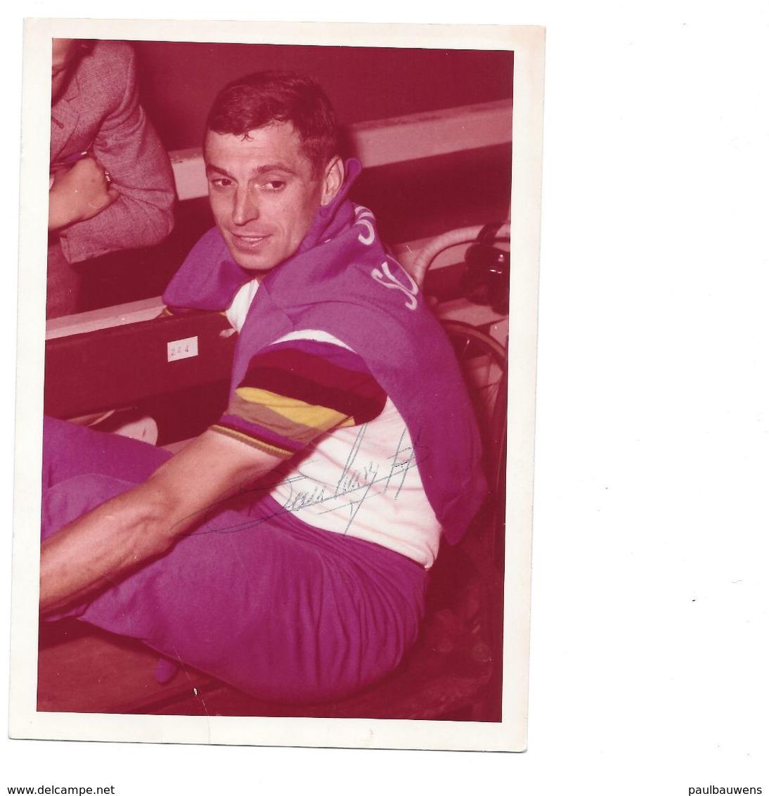Rik Van Looy, Wereldkampioen 1961 Kleurfoto, Persoonlijk Gesigneerd - Sportler
