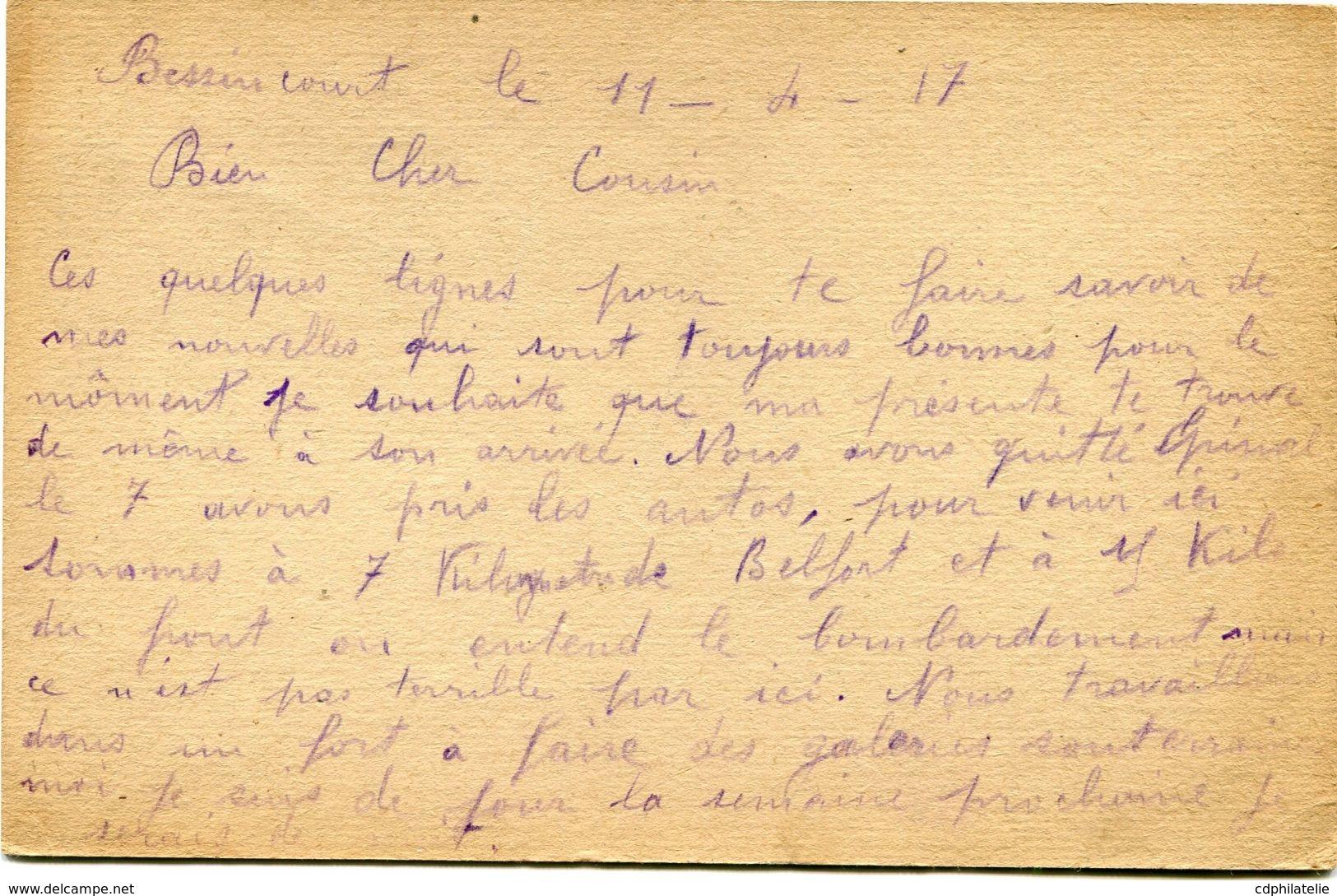 FRANCE CARTE DE FRANCHISE MILITAIRE AYANT VOYAGEE - Marcophilie (Lettres)
