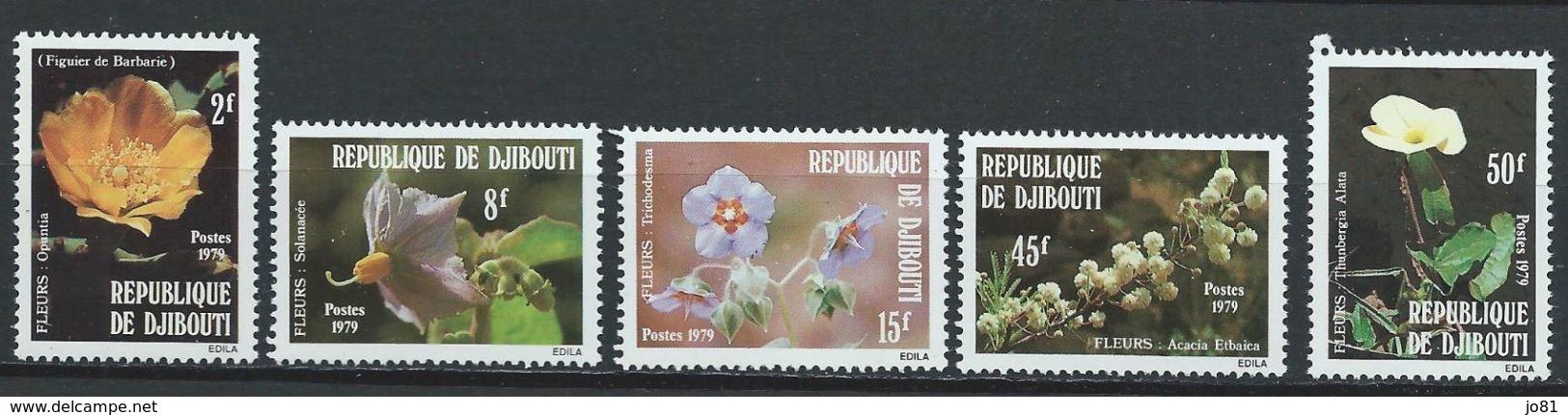 Djibouti YT 504-508  XX / MNH Fleur Flower - Yibuti (1977-...)