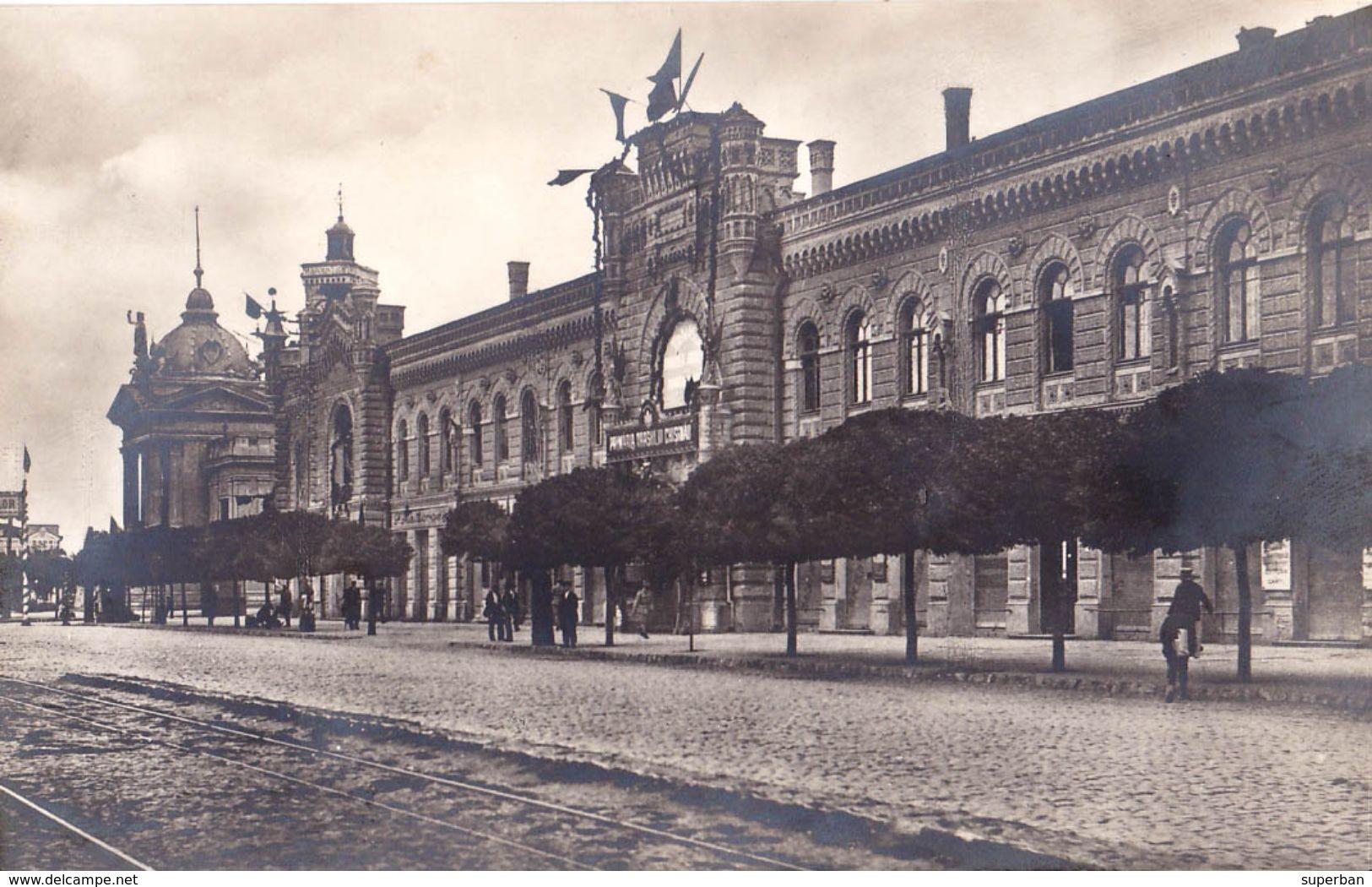 BASARABIA : CHISINAU / KISHINEV / KICHINEW : PASSAGE DE L'HOTEL DE VILLE - CARTE VRAIE PHOTO / REAL PHOTO ~ 1920 (ab514) - Moldavie