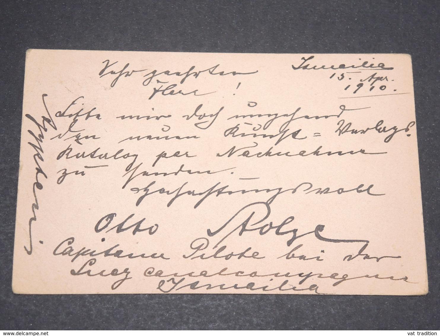 EGYPTE - Entier Postal De Ismalia Pour Berlin En 1910 Via Port Saïd - L 13828 - Égypte