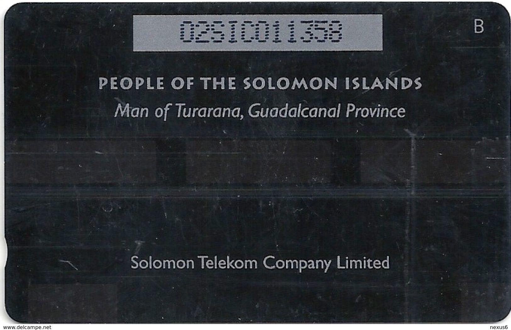Solomon - Solomon Tel. - GPT - SOL-05A - 02SIC (Letter B) - Man From Turarana, 10$, Used - Isole Salomon
