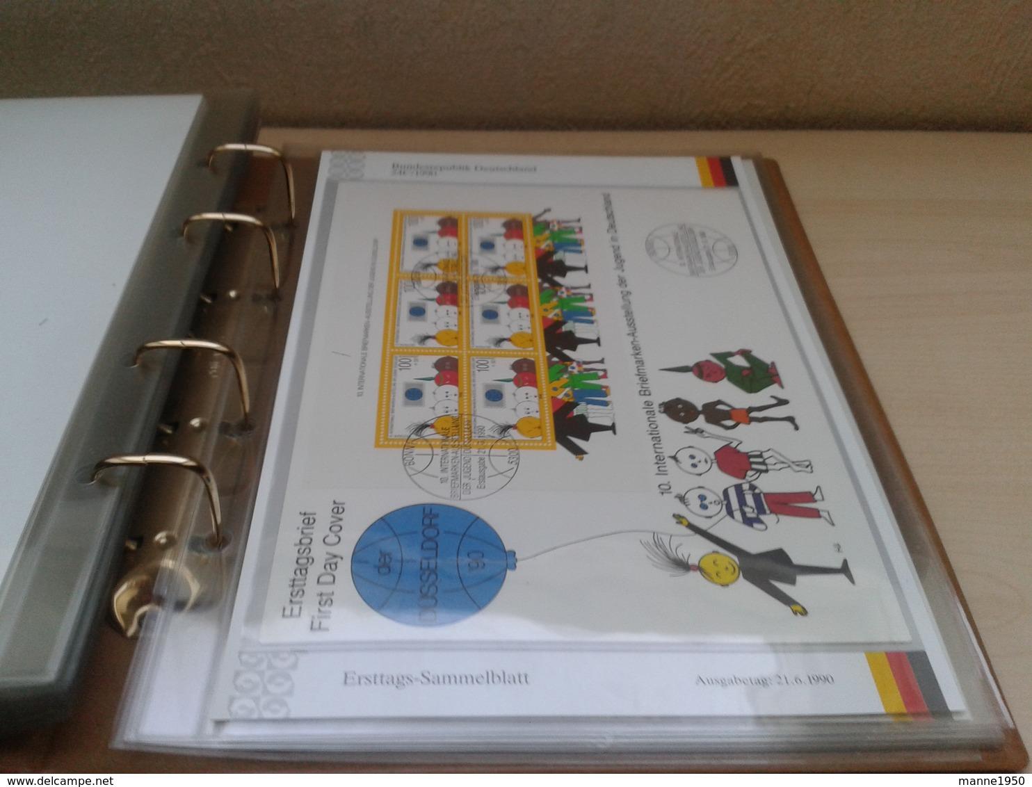 BRD Ersttagsblätter Sammlung Jahrgang 1990 Marken Postfrisch, Gestempelt Und Auf FDC - Stamps