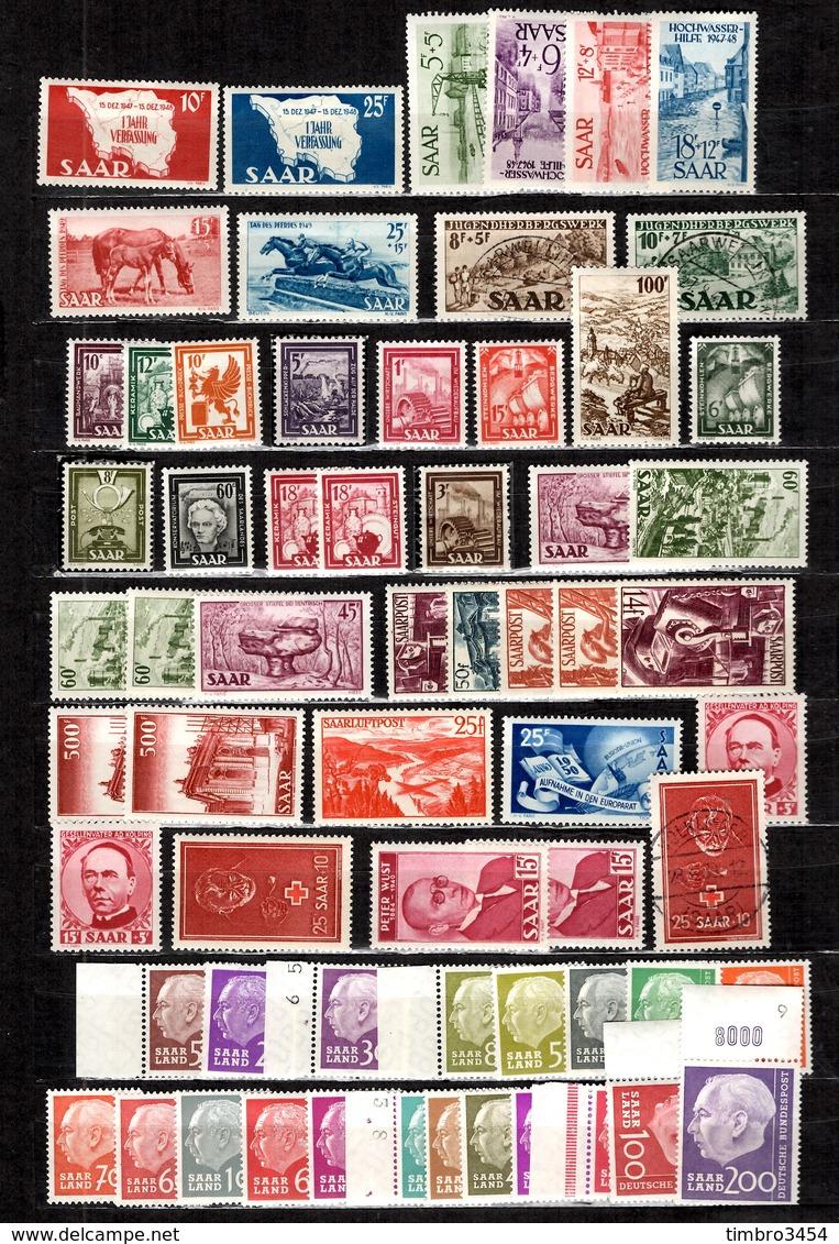 Sarre Belle Collection 1948/1960. Nombreuses Bonnes Valeurs. B/TB. A Saisir! - 1947-56 Protectorate