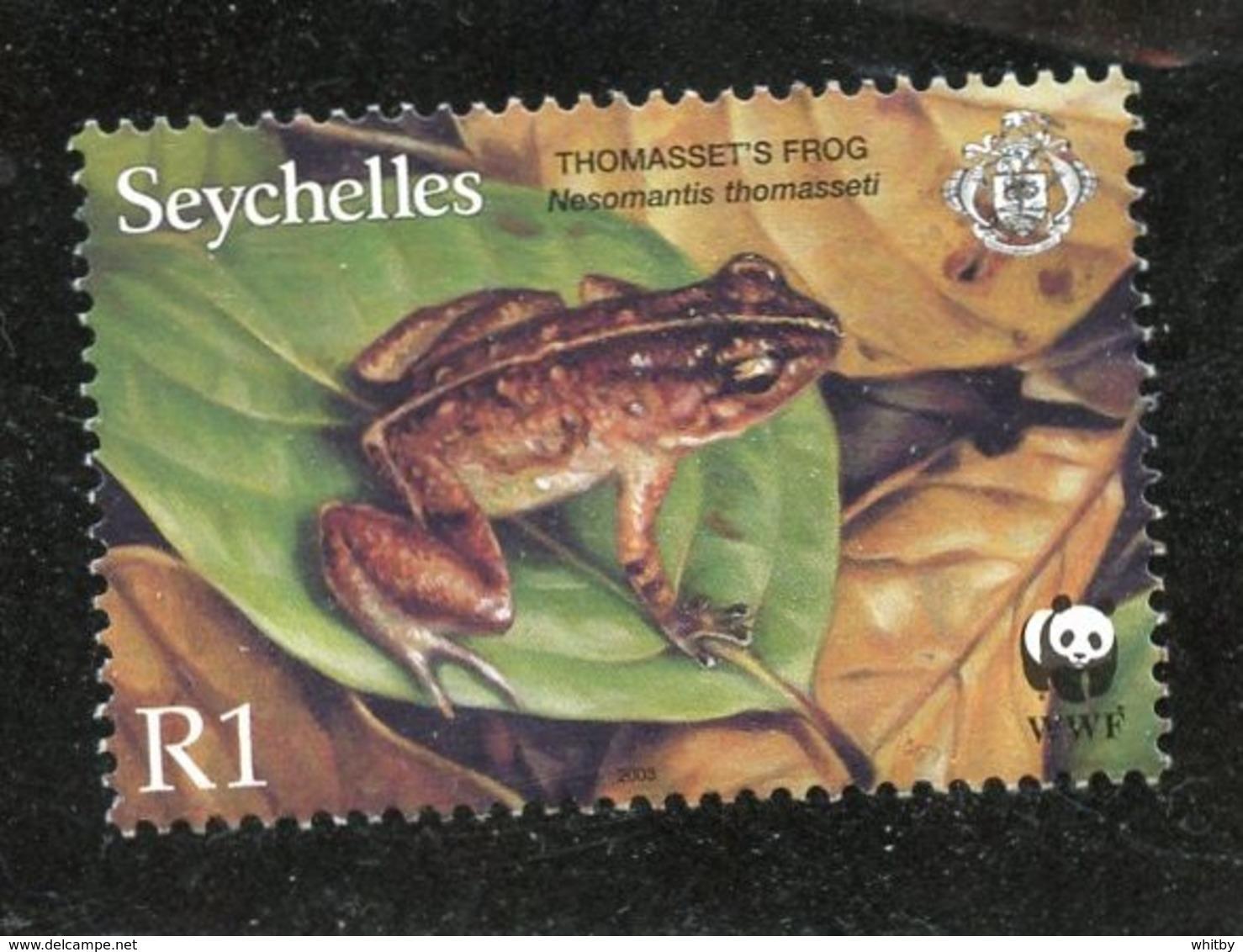 Seychelles 2003 1r  Thomassets Frog Issue #833  MNH - Seychelles (1976-...)