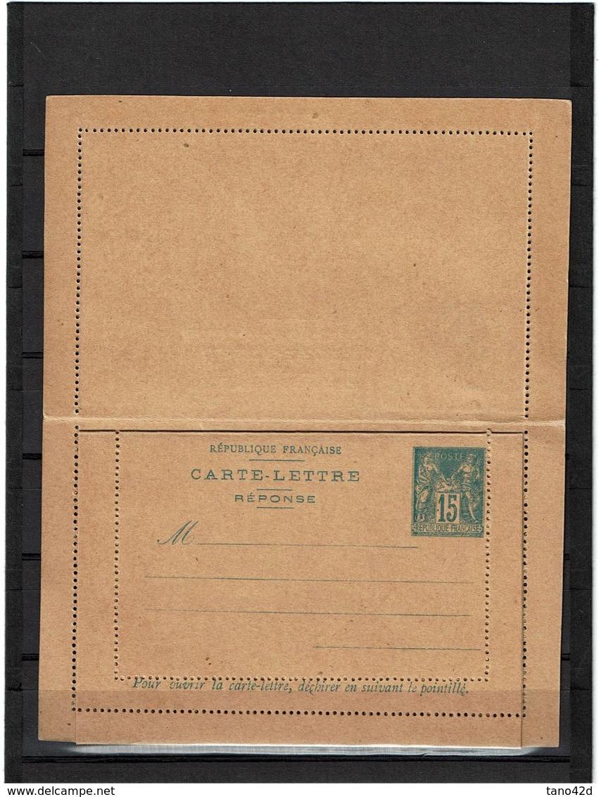 CTN27 - CARTE LETTRE SAGE 15c  AVEC REPONSE PAYEE STORCH J49 NEUVE TB - Cartes-lettres