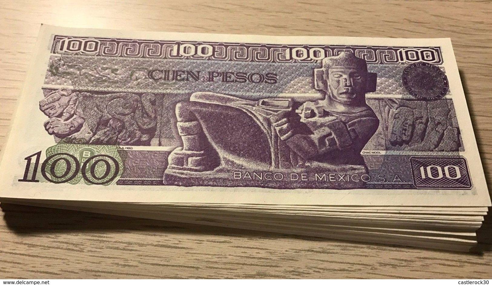 C) MEXICO BANK NOTE 100 PESOS UNC ND 1982 (60PCS) - Mexico