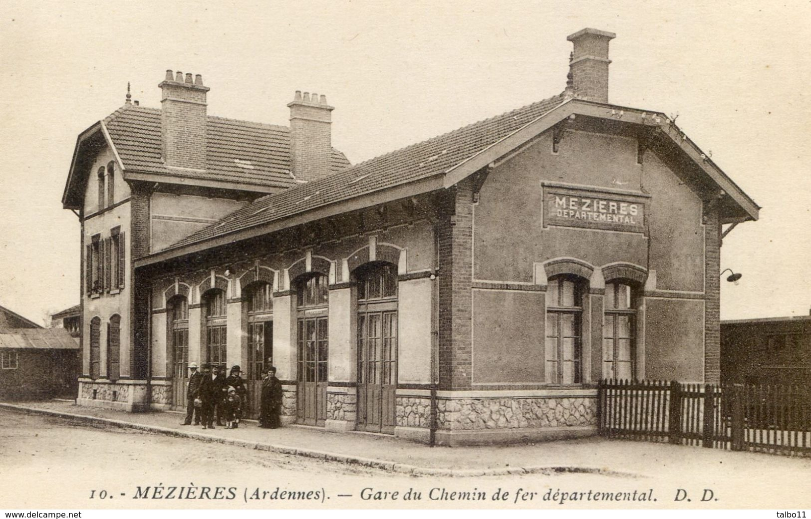 08 - Mézières - Gare Du Chemin De Fer Départemental - Frankrijk