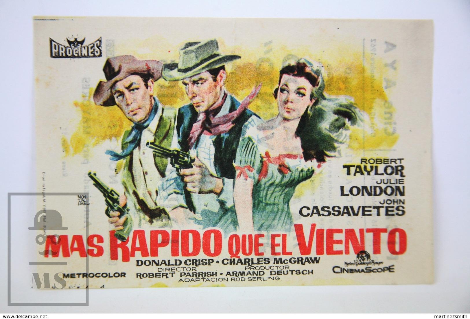 1958 Cinema/ Movie Advertising Leaflet - Saddle The Wind - Robert Taylor,  Julie London,  John Cassavetes,  Donald Crisp - Publicité Cinématographique