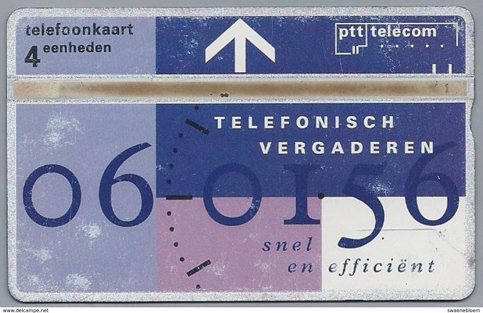 NL.- Telefoonkaart. PTT Telecom. 4 Eenheden. TELEFONISCH VERGADEREN Snel En Efficiënt. 327A. - Telecom
