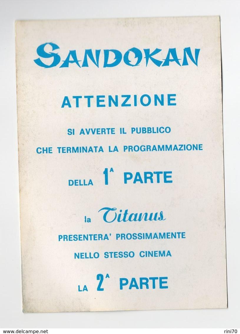 1 Cartolina Sandokan Pubblicitaria Film Titanus 10,5 X15 Cm 1 Parte - Pubblicitari