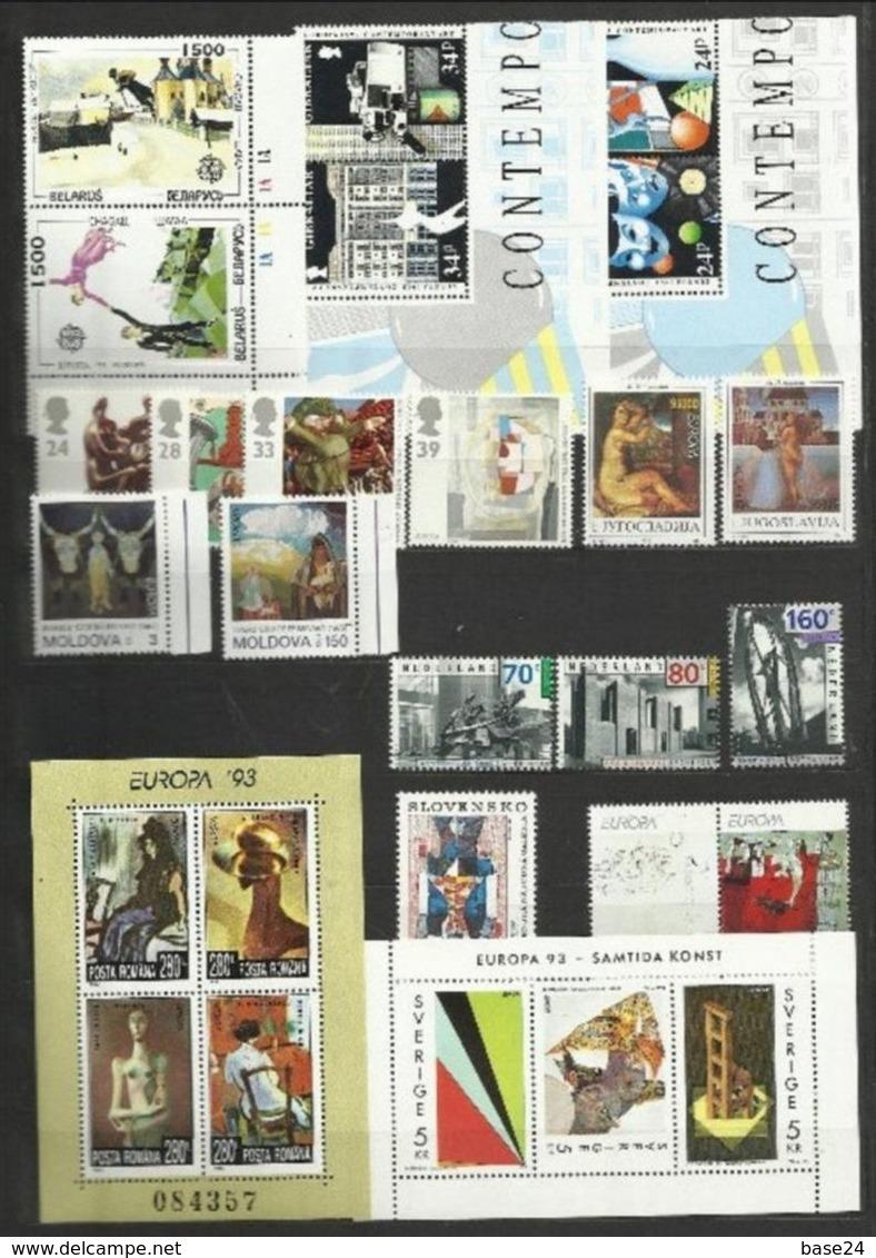 1993 EUROPA CEPT EUROPE 47 Paesi (104 Val.) 47 Countries MNH** Annata Exc. Albania, Bosnia Croata, Bielorussia BF ARTE - 1993