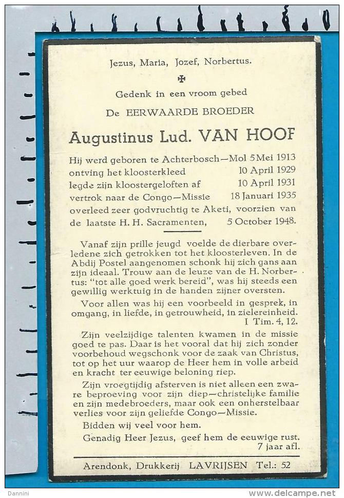 Bp     E. B. Van Hoof   Achterbos - Mol    1 Stuks - Devotion Images