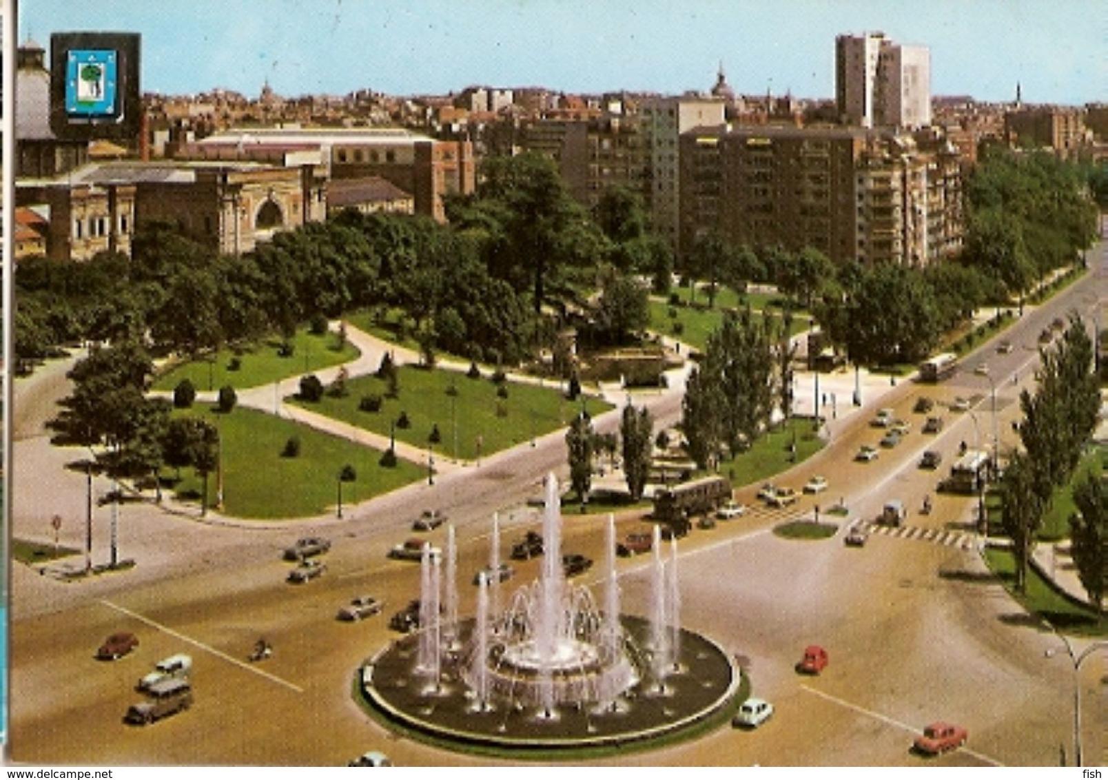 Spain  & Circulated, Paseo San Joan De La Cruz Paseo De La Castellana, Madrid,Lisboa 1971 (147) - Monuments