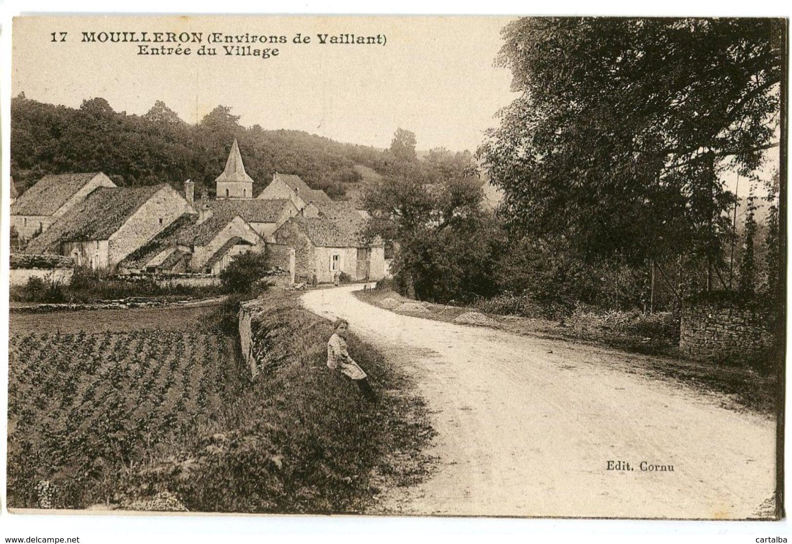 CPA 52 Haute-Marne Mouilleron Entrée Du Village - Autres Communes