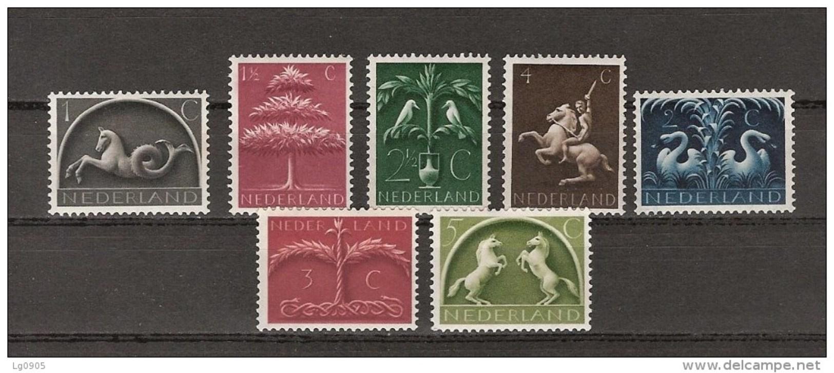 NVPH Nederland Netherlands Pays Bas 405 406 407 408 409 410 411 MNH Germaanse Symbolen 1943 - Periode 1891-1948 (Wilhelmina)