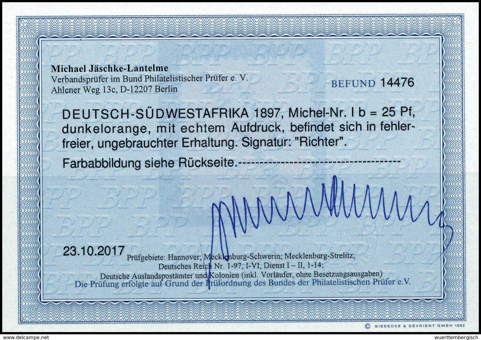 * 25 Pfg., Tadellos Ungebr., Fotobefund Jäschke-L.BPP.<br/><b>Katalogpreis: 350,-</b> (Michel: Ib) - Unclassified