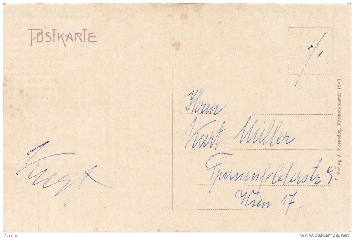 ÖSTERREICH NACHPORTO 1946 - 4x20 Gro (Viererblock) Nachporto Auf Ak Gründungssage Des Stiftes Kremsmünster, Gel.n.Wien - Portomarken