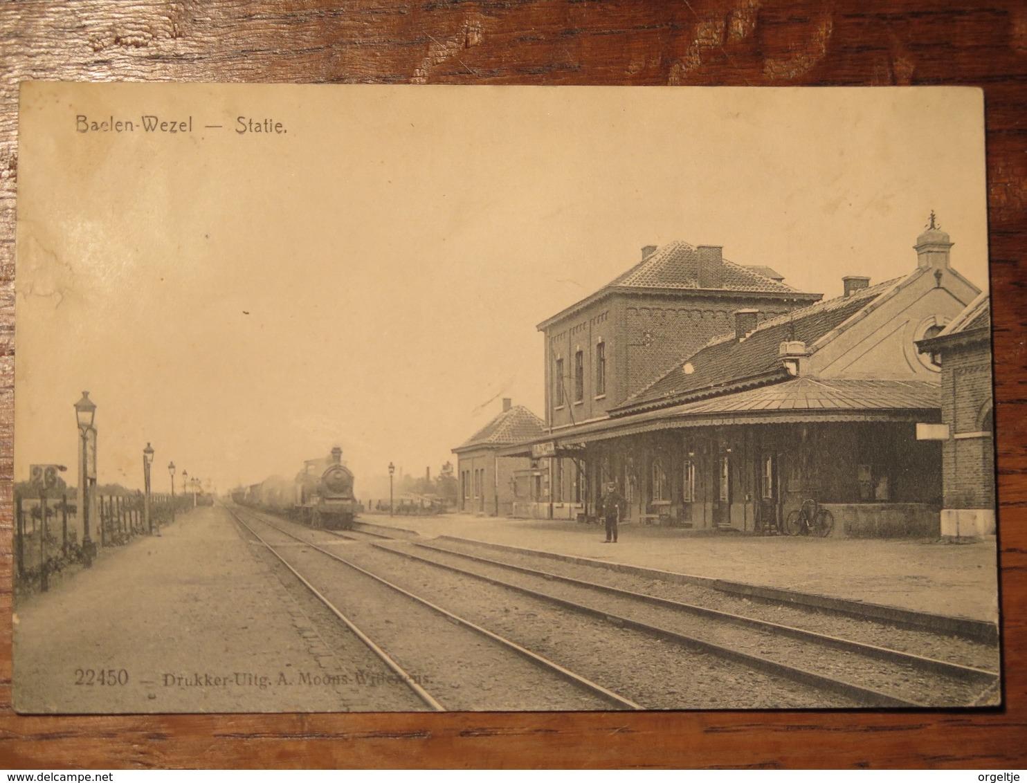 Baelen-Wezel(Balen) Statie(station)Feldpostkarte WO I - Balen