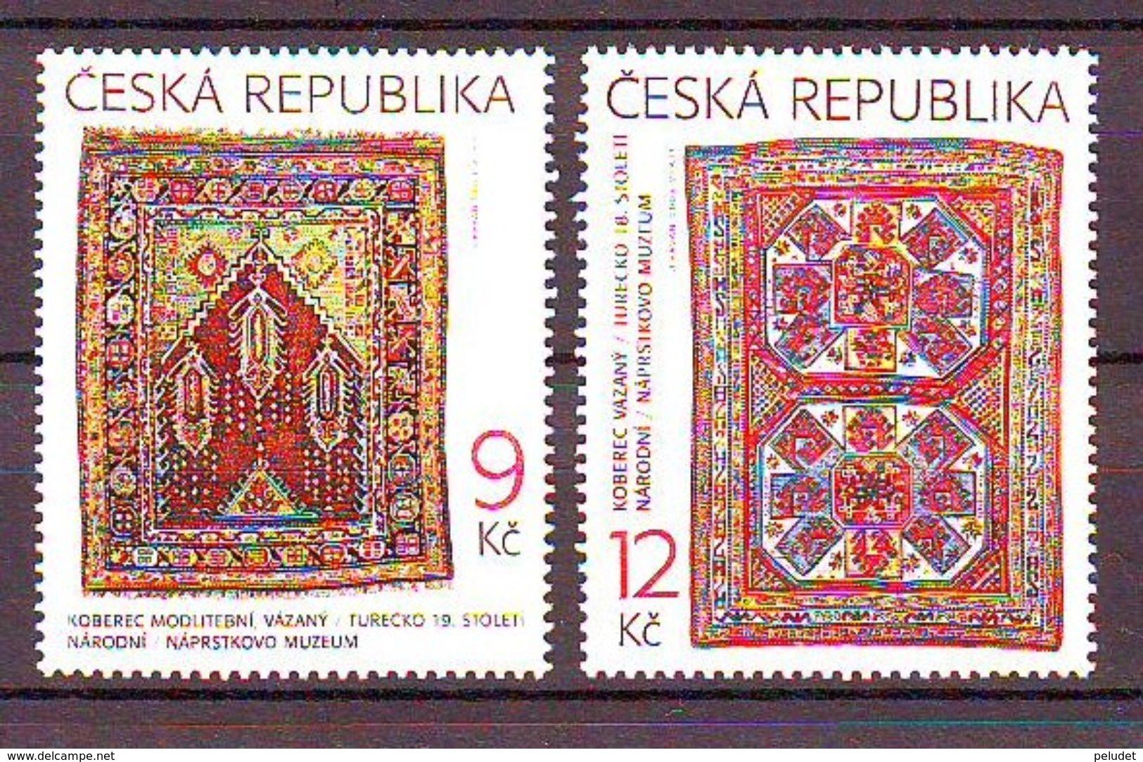 Czech Republic Oriental Carpets. 2v: 9, 12 Mnh - Tschechische Republik