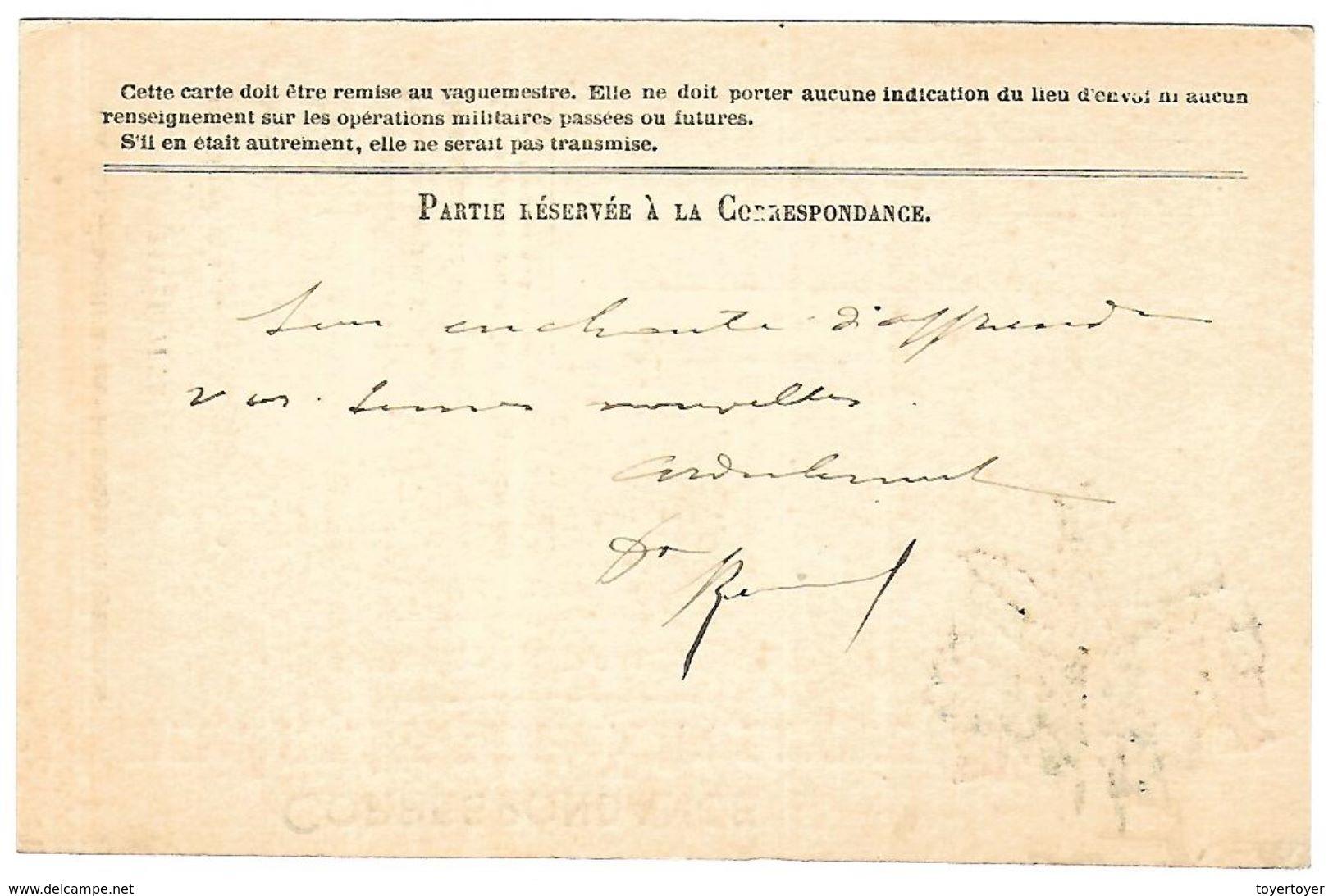 CM 34 Correspondance Militaire Du 1-11-15 Cachet Trésor Et Postes Double Cercle Et Griffe Linéaire N°(SP)8 QG De La 2ème - Marcophilie (Lettres)