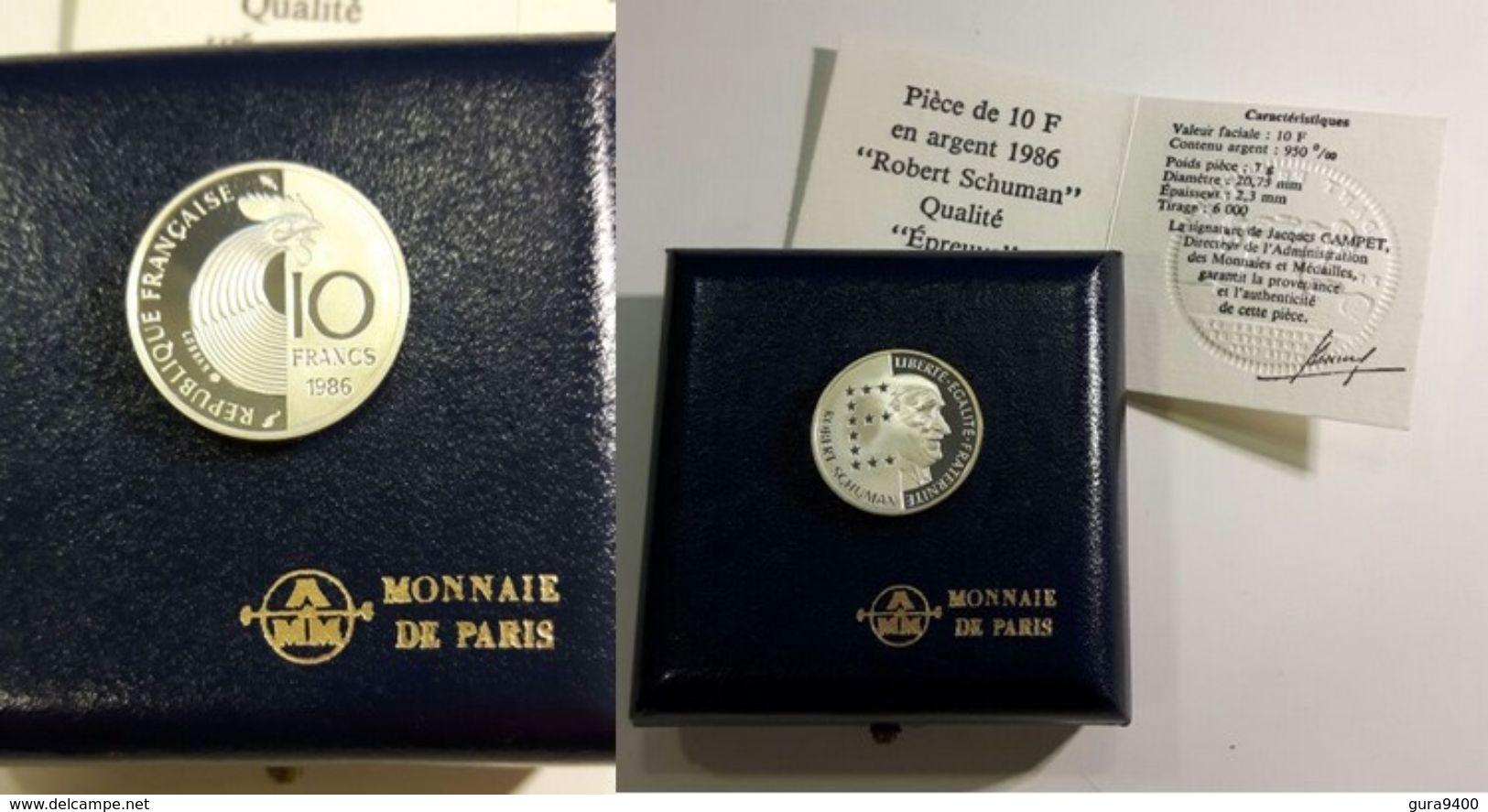 France, 10 Francs, 1986 Robert Schumann - France