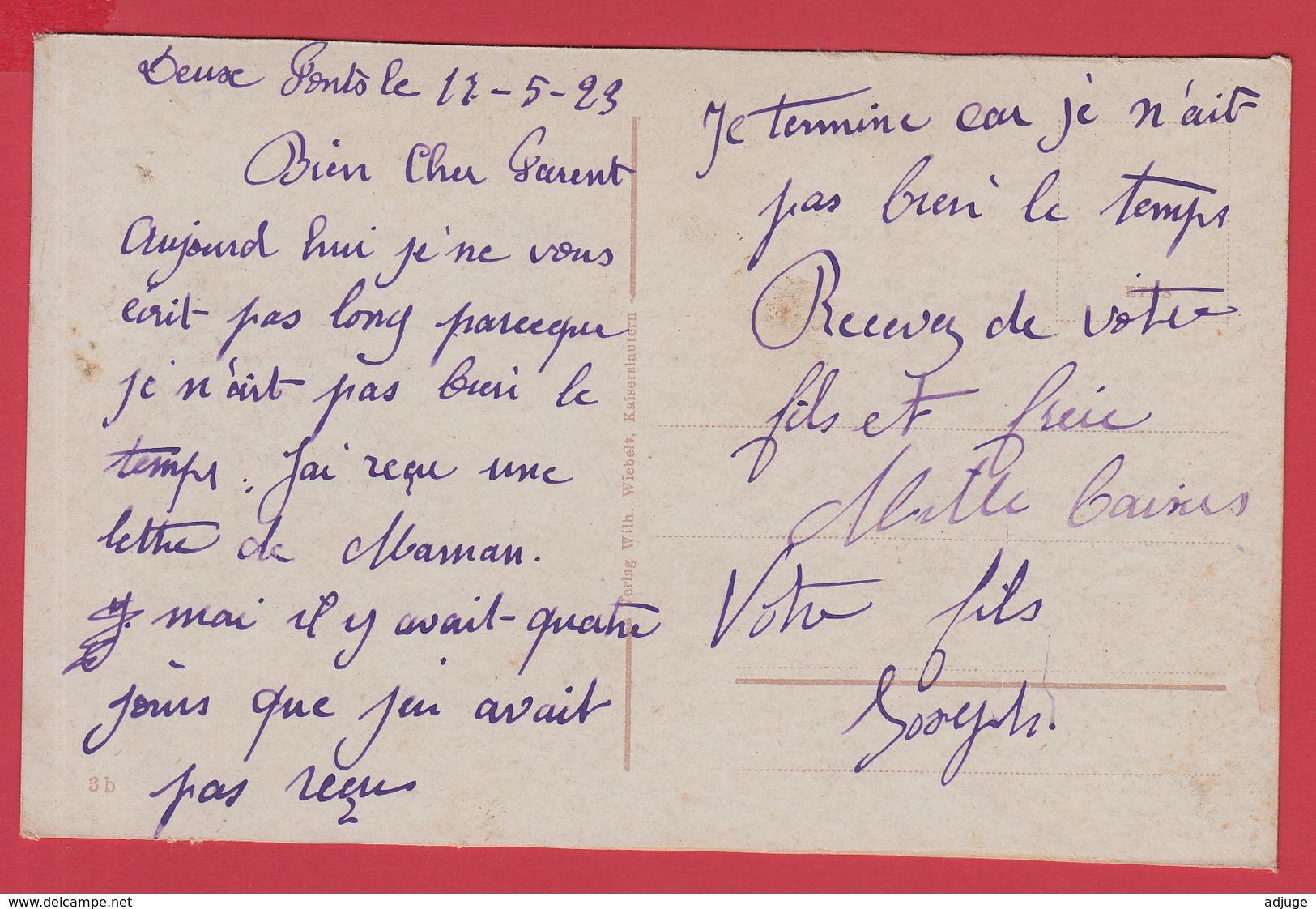 CPA- ZWEIBRÜCKEN (DEUX-PONTS) Ann.1920 _  CASERNE Des CHEVAUX LÉGERS _Animation -SUP* 2 SCANS. - Zweibruecken