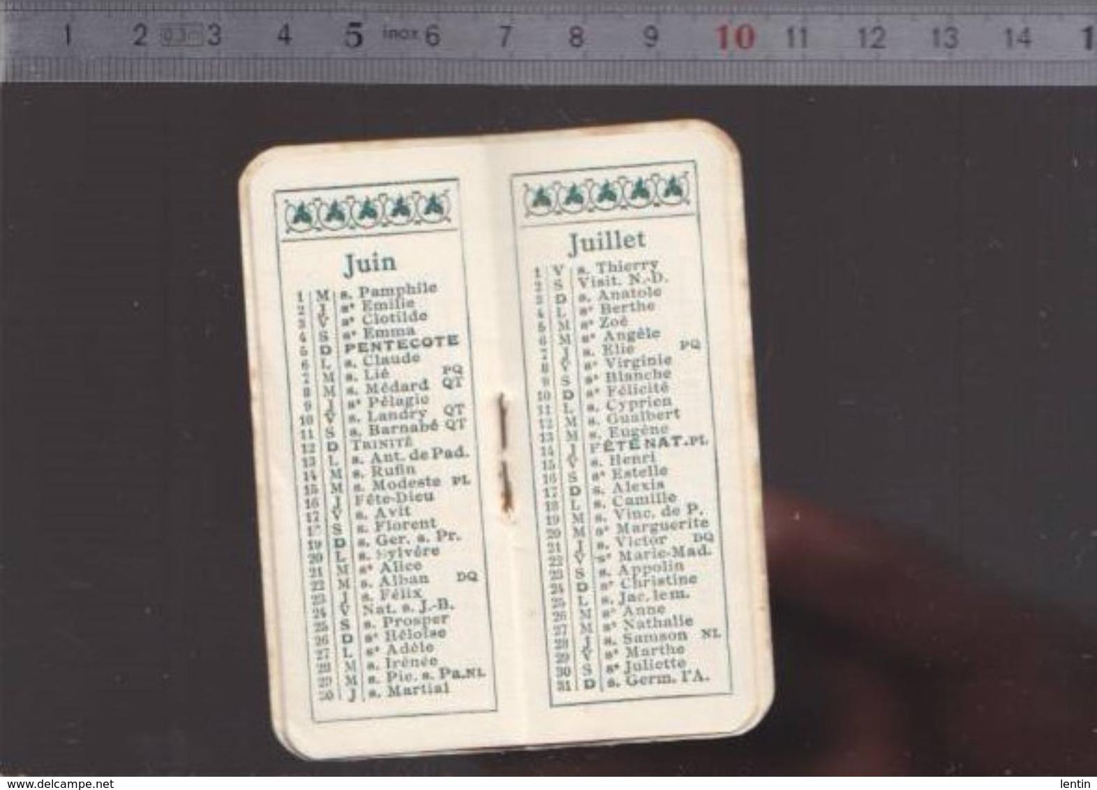 Calendrier - Petit Format - 1927 - Horlogerie Libault à Angers - Kalenders