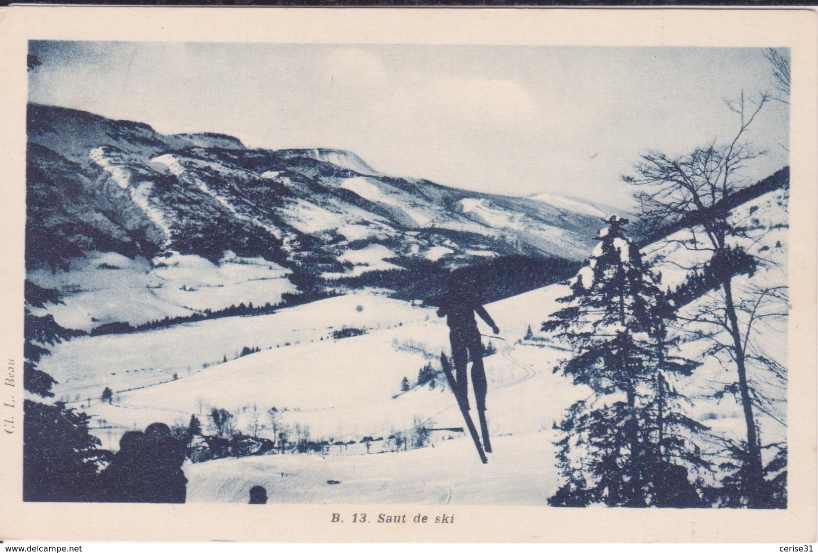 CPA -   13. Saut De Ski - France