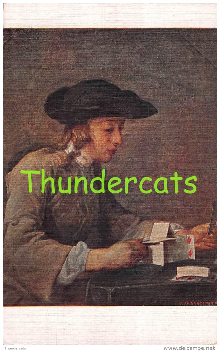 CPA  JEU DE CARTES  PLAYING CARDS  ILLUSTRATEUR CHARDIN J B F LE CHATEAU DES CARTES ARTIST SIGNED - Cartes à Jouer