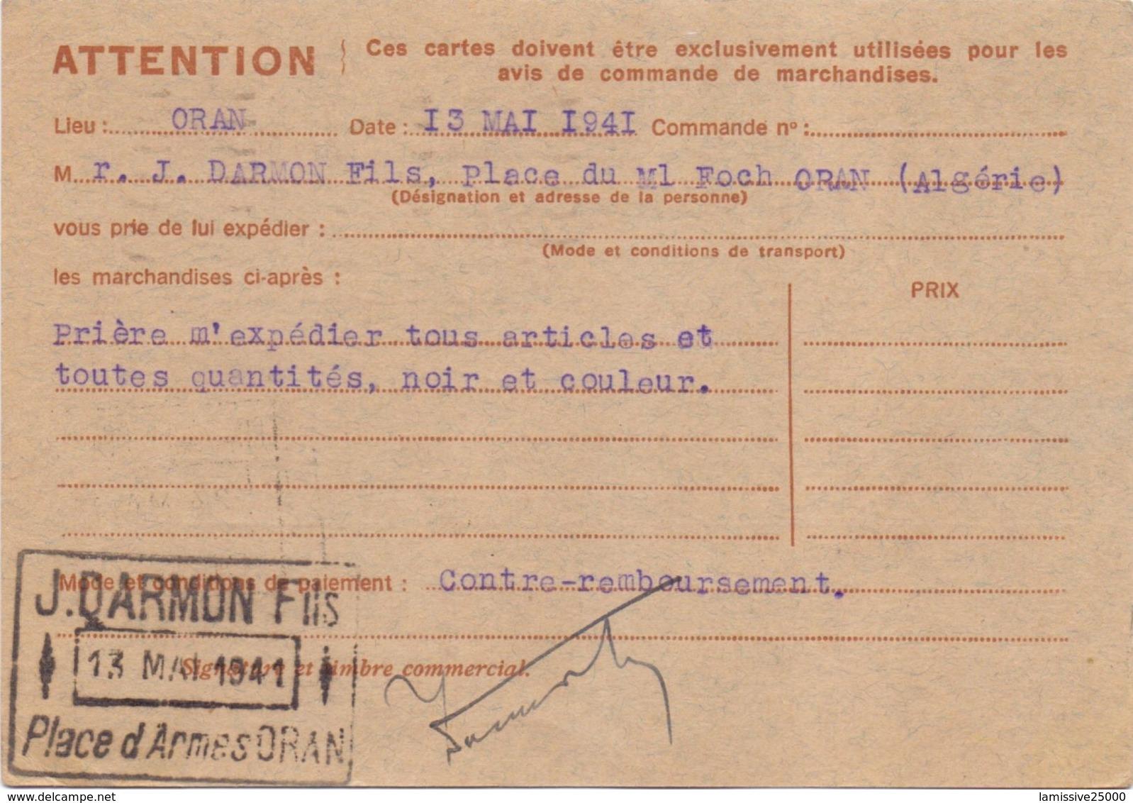 Iris Correspondance Commerciale Chambre De Commerce D Oran Algerie Pour La Haute Saone - Entiers Postaux