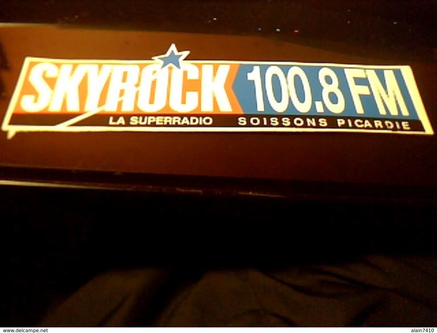 Autocollant  Publicite Ancien Radio  Sky Rock Soisson Picardie - Autocollants