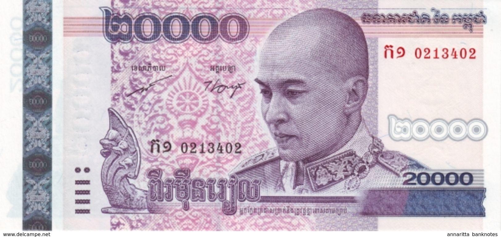 CAMBODIA 20000 RIELS 2008 P-60a UNC  [KH423a] - Cambodia