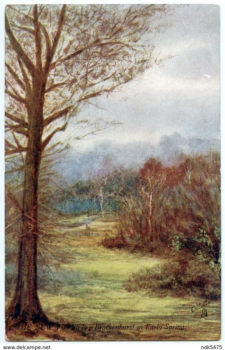 TUCK'S OILETTE : THE NEW FOREST - BROCKENHURST IN EARLY SPRING - 1900-1949