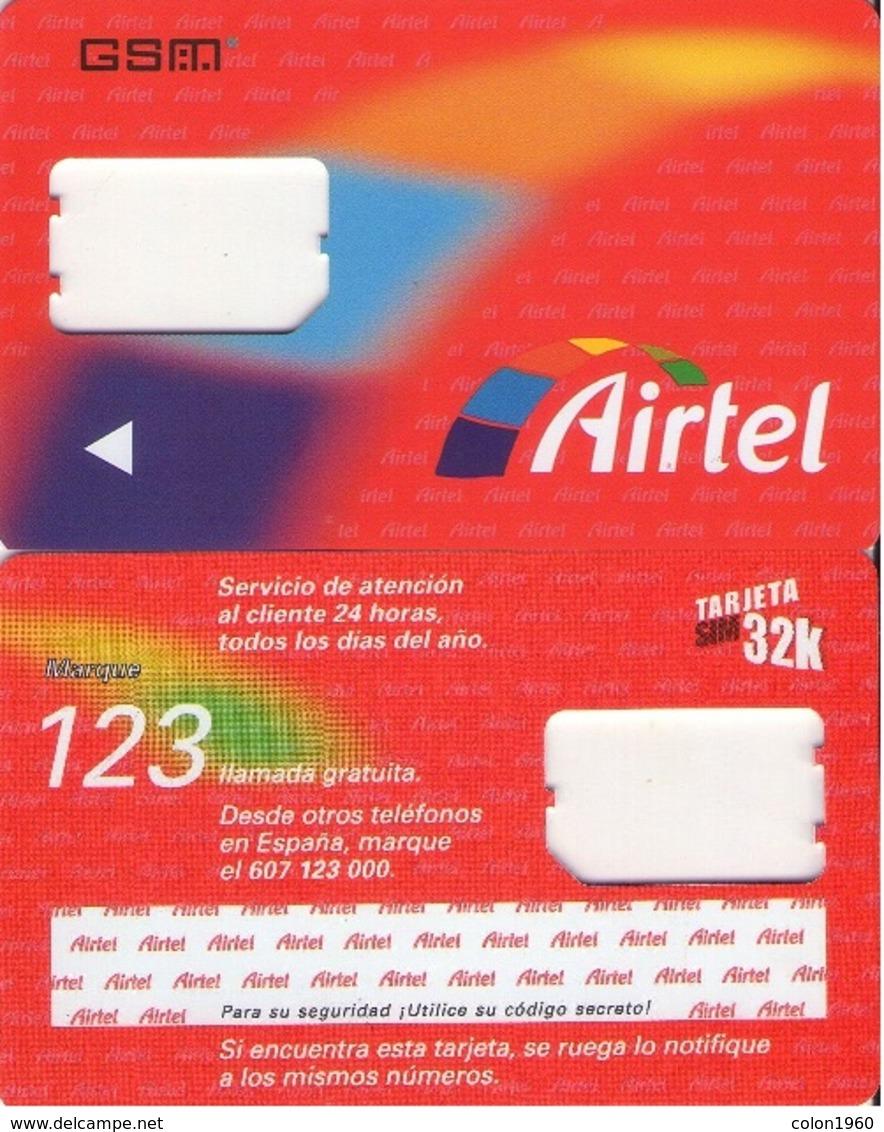 TARJETA TELEFONICA DE ESPAÑA, (SIM) 231. - Airtel