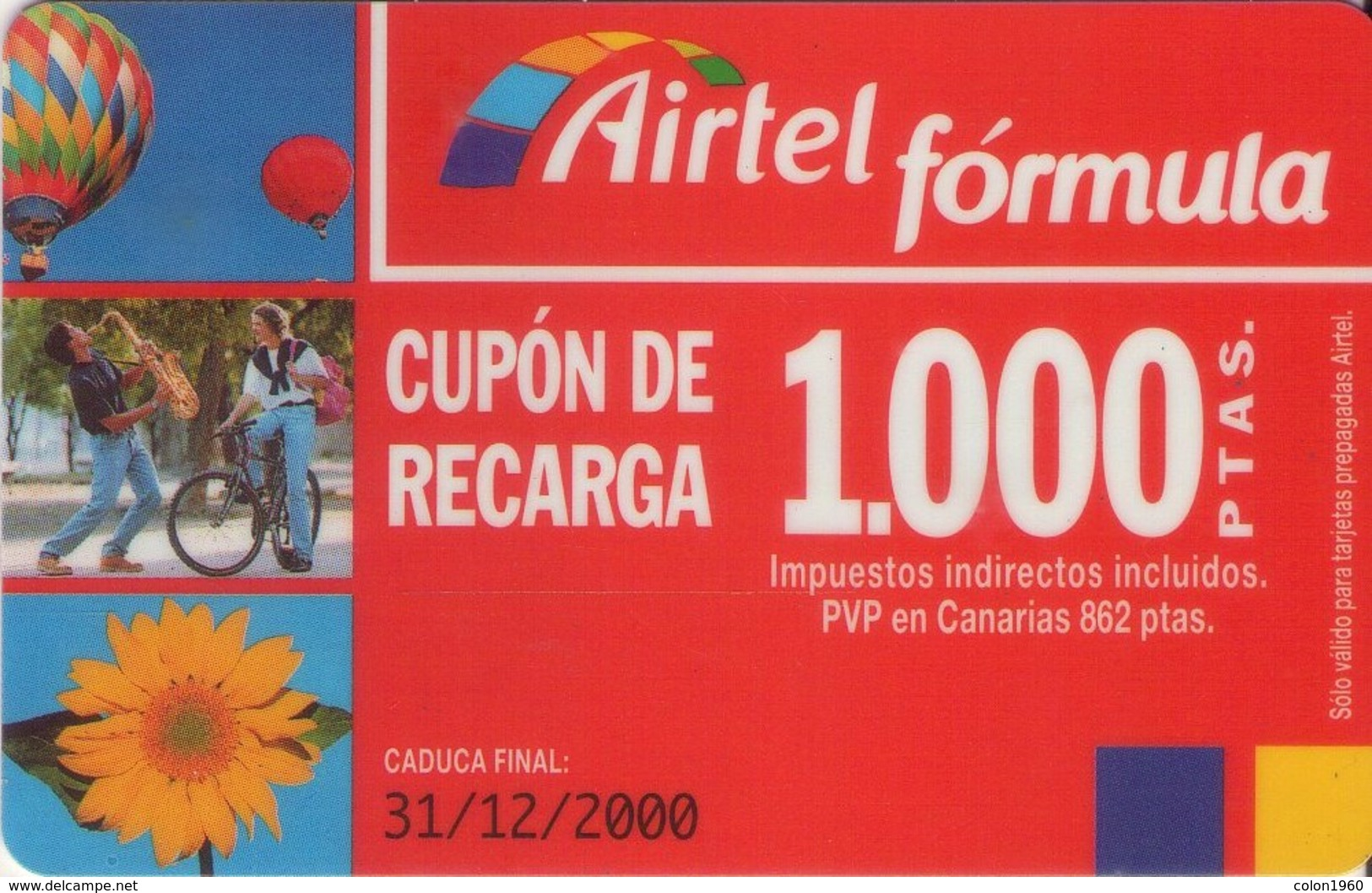 TARJETA TELEFONICA DE ESPAÑA, (PREPAGO) 217. - Airtel
