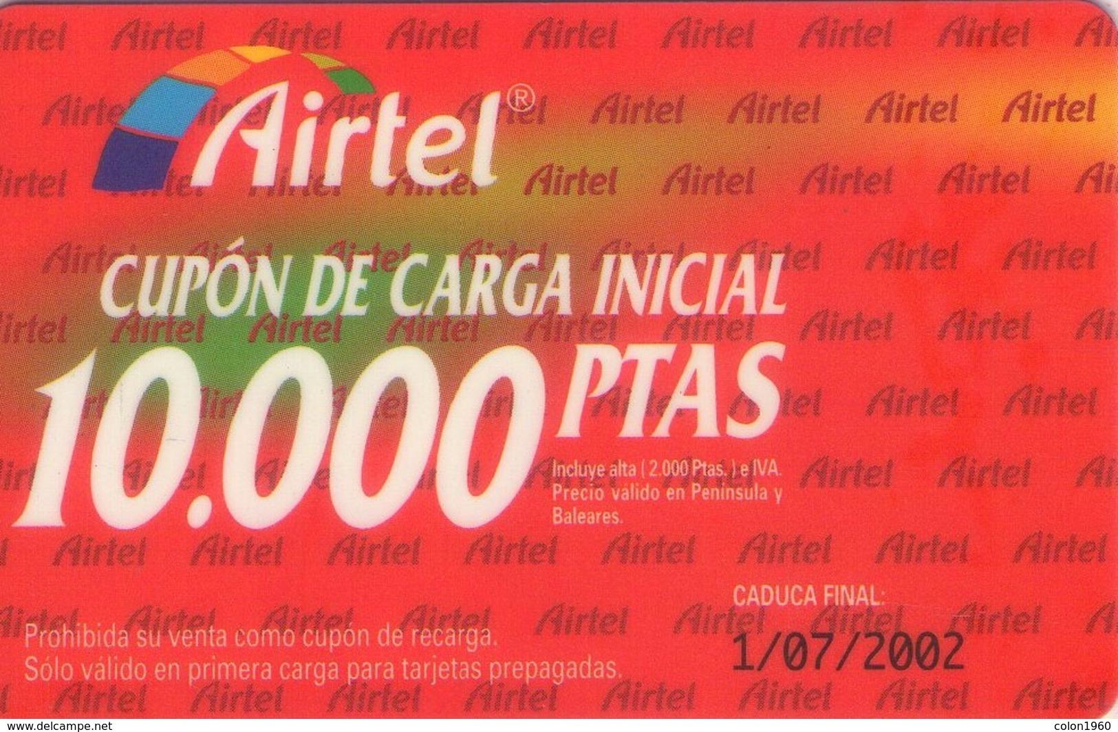 TARJETA TELEFONICA DE ESPAÑA, (PREPAGO) 222. - Airtel