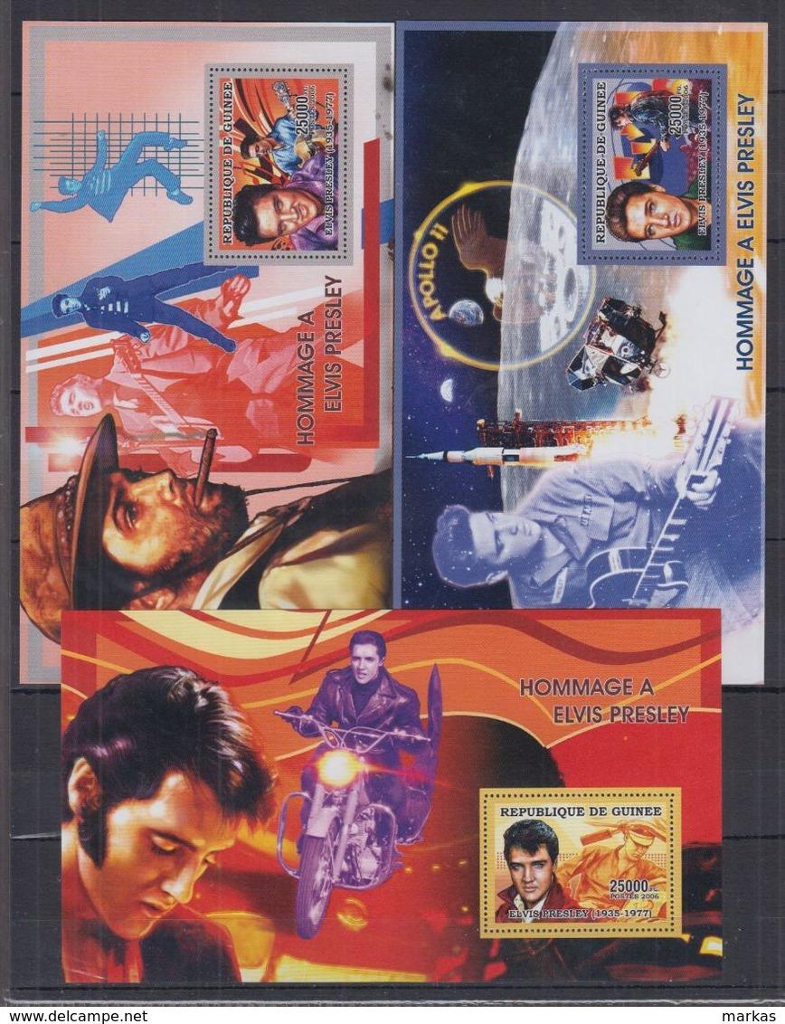 H64. MNH Guinee Famous People Elvis Presley 1935-1977 - Elvis Presley