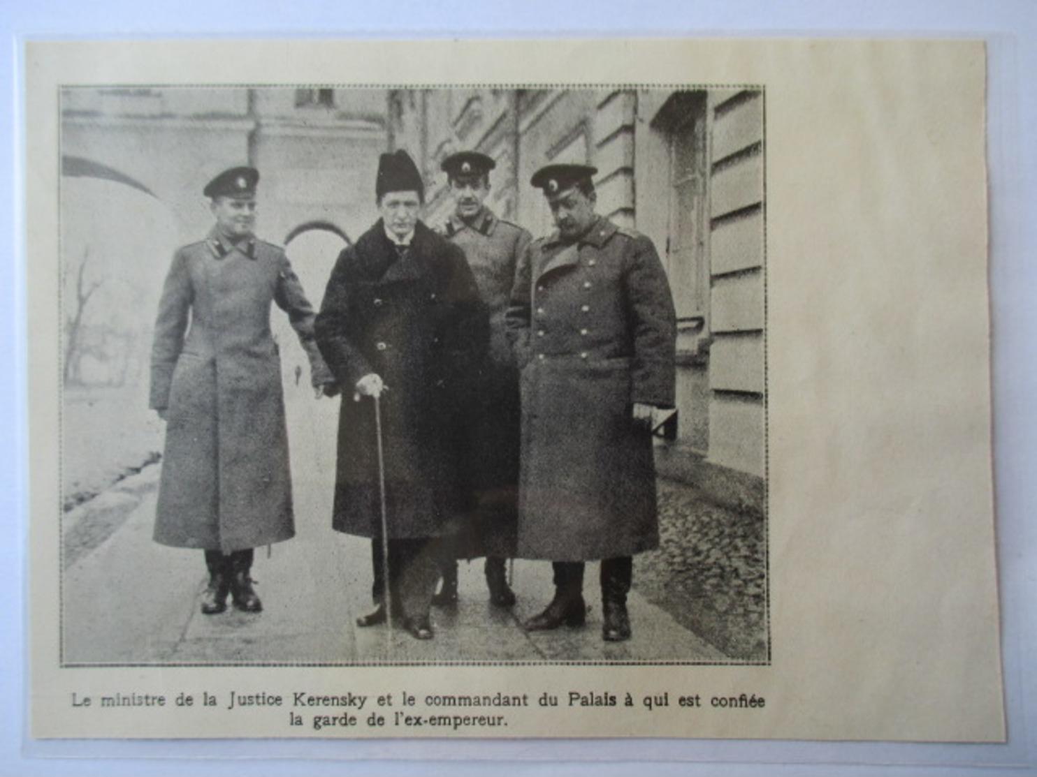 1917 - Tsarskoïe Selo  Revolution Russe Alexandre Kerenski -   Керенский - Coupure De Presse Originale (Encart Photo) - Documents Historiques