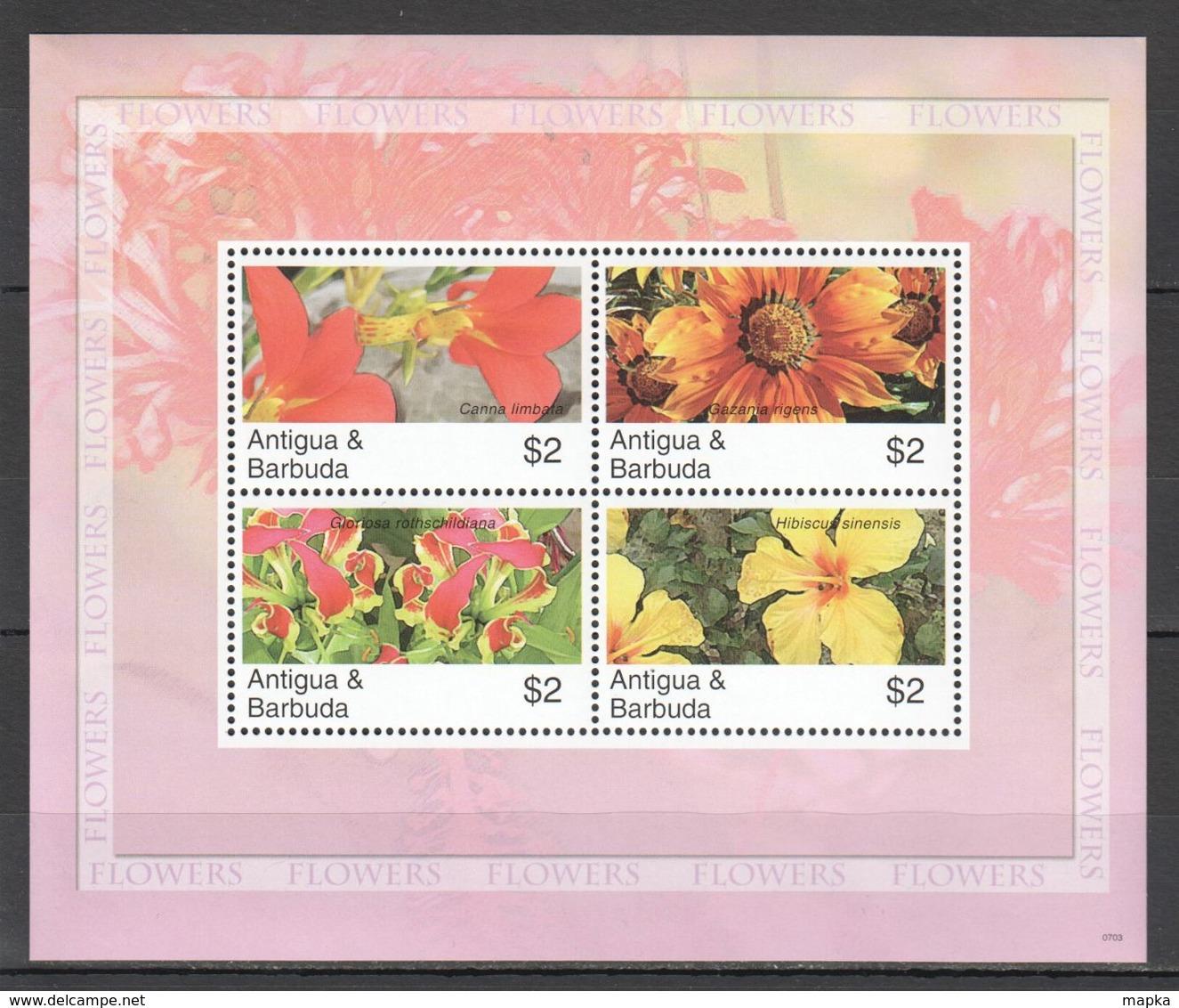 O1346 2007 ANTIGUA & BARBUDA FLORA NATURE FLOWERS ORCHIDS 1KB MNH - Plants