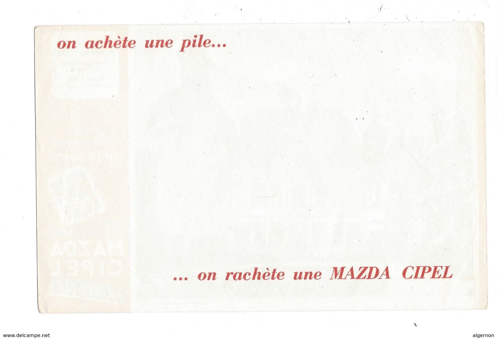 B26 - Buvard Château D'Usson Piles Et Boitiers Mazda Cipel - Piles