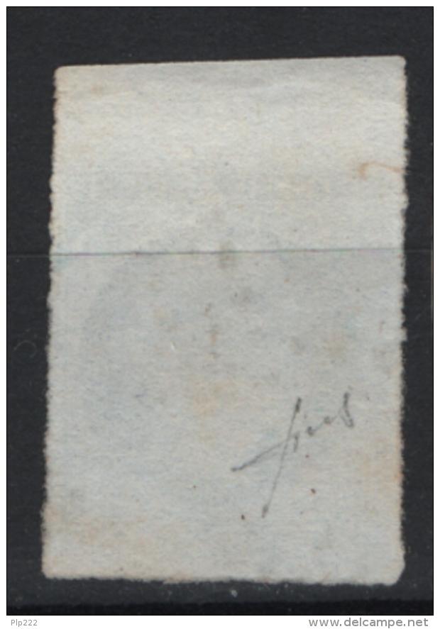 Francia 1853 20c. Unif. 14 Usato/Used VF Signed Fiecchi - 1853-1860 Napoleone III