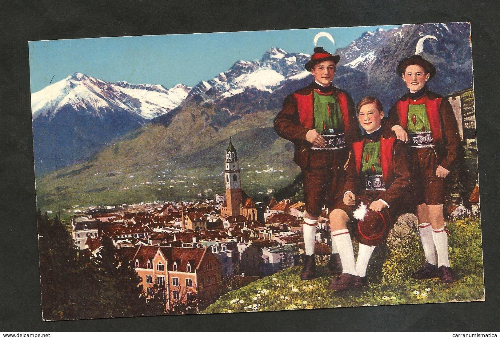 MERANO ( BZ ) - Saluti Da Merano / Panorama E Costumi Tradizionali / Folklore ( Spedita 1939 ) Illustrata - Bolzano