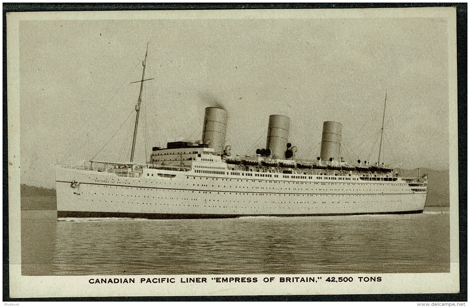 RB 1200 -  1958 Shipping Maritime Postcard - Canadian Pacific Empress Of Britain - Paquebote
